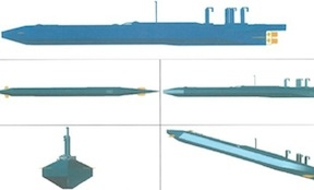 A police diagram of the group's submarine plans