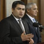 Honduran President Juan Orlando Hernandez called for US aid