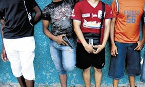 Young gang members in Panama