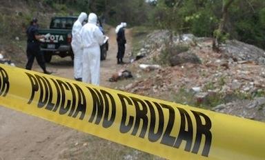 A murder scene in El Salvador