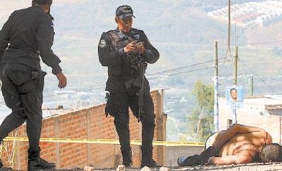 A homicide scene in Honduras