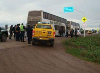 "A ""buyers' caravan"" is detained in Salta"