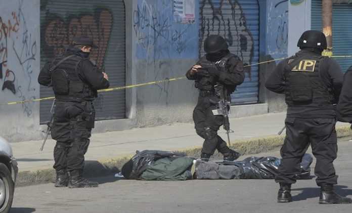 A crime scene in Mexico State