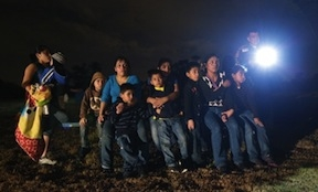 Central American migrants stopped by US border patrol