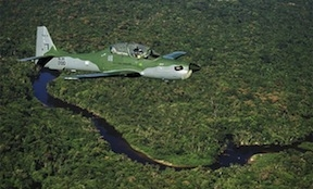 Brazilian patrol over Amazon