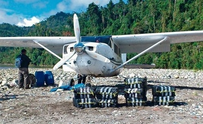 A Bolivian drug plane caught in Peru in July