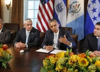 Central American presidents meet with Obama