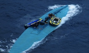 A semi-submersible found in the Pacific Ocean