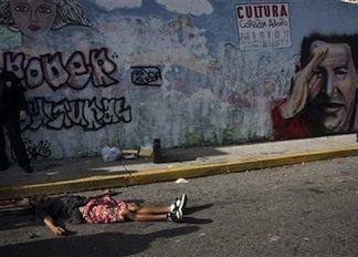 A homicide victim in Venezuela