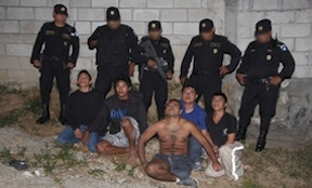 The MS13 members captured in Guatemala