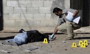A homicide scene in Juarez