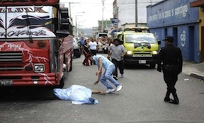 A bus driver murdered in Guatemala