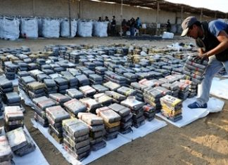 The cocaine seized in Huanchaco, Peru