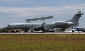 Brazil's first E-99M radar aircraft