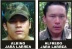 Albino and Alfredo Jara Larrea, heads of the new guerrilla faction