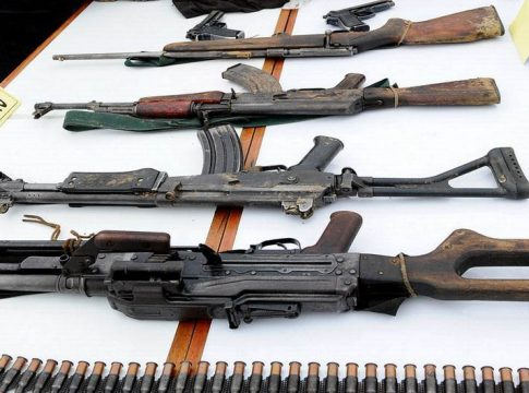 Weapons seized from the Shining Path in June