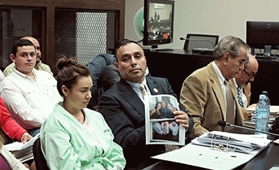 Byron Lima at a hearing in Guatemala City