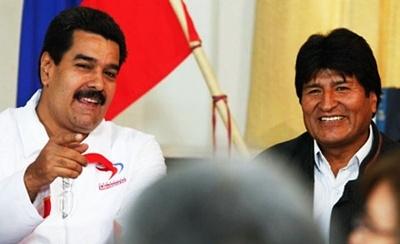 Venezuela's Nicolas Maduro and Bolivia's Evo Morales
