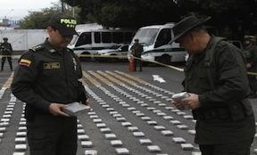 The alleged Sinaloa cocaine seized in Buenaventura