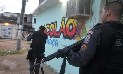A police operation in Antares favela, Rio de Janeiro