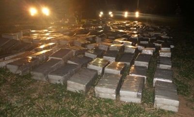 The marijuana seized in Capitan Bado - Interior Ministry