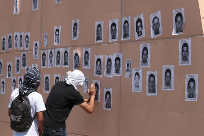 Photographs of the missing student protesters in Iguala