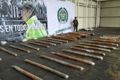 The cocaine paste seized in Barranquilla