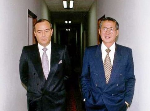 Vladimiro Montesinos (left) and ex-President Fujimori