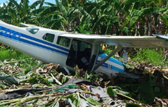 A plane used to transport drugs from Peru to Bolivia