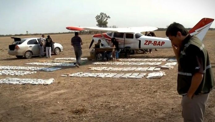 A drug plane seized in Paraguay