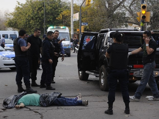 A murder scene in Santa Fe, Argentina