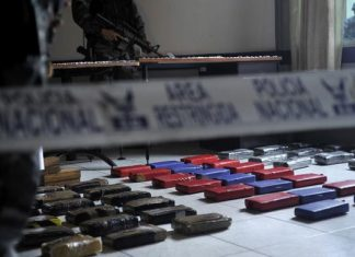 The cocaine seized in the October operation
