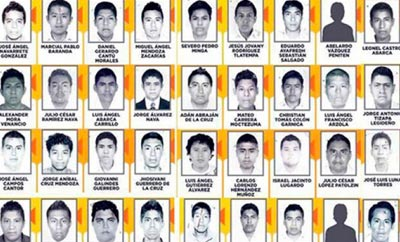 43 student teachers disappeared near Iguala, Mexico