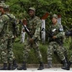 Members of Colombia's military in Choco