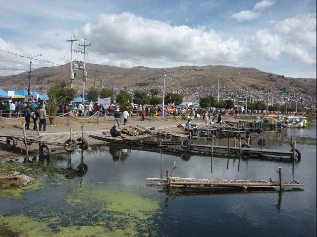 A Peruvian port on Lake Titicaca