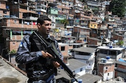 A police special forces officer in Rio de Janeiro