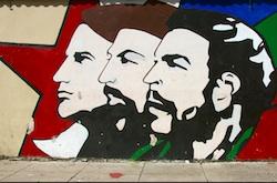 A political mural in Cuba