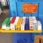 Contraband cigarettes for sale in Mexico