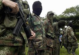 Members of Colombia's guerrilla group FARC