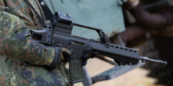 A German Heckler & Koch G36 assault rifle