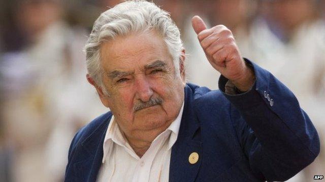 Outgoing Uruguayan President Jose Mujica