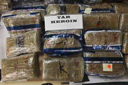 Heroin seized in the US