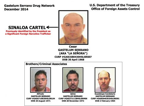 US Treasury designates Gastelum Serrano network 'kingpins'