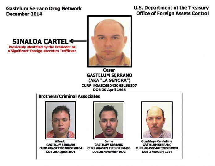 US Treasury designates Gastelum Serrano network 'kingpins'
