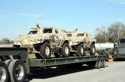 Armored vehicles sent to Tamaulipas