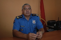Silvio Solabarrieta, the new police chief in Canindeyu