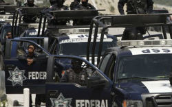 Members of Mexican security forces in Michoacan