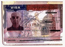 A visa issued to an alleged Cuban criminal