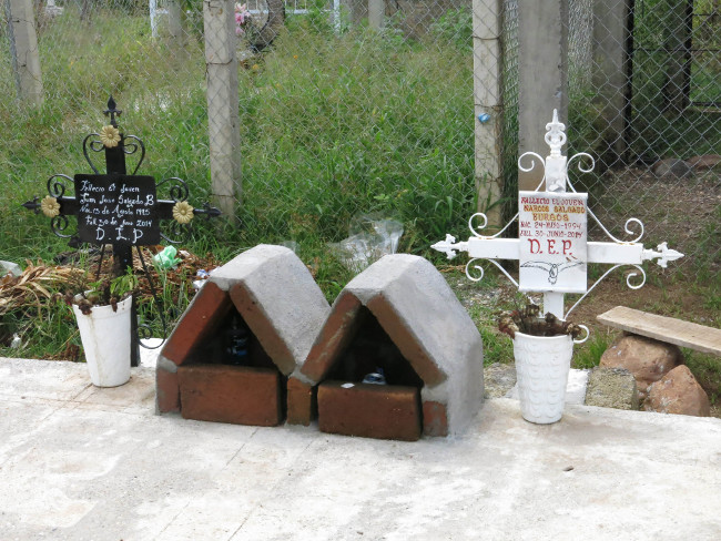 The tombs of two men who died during the incident