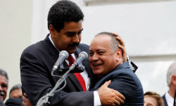 President Nicolas Maduro with Diosdado Cabello